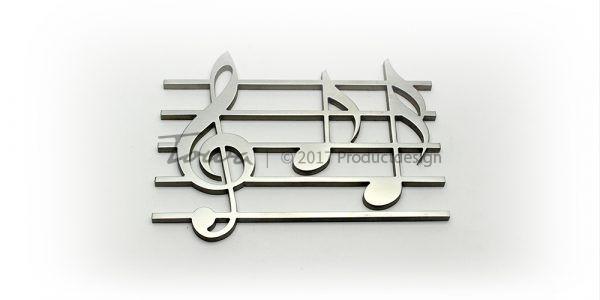 Ornement en acier inoxydable – Musique