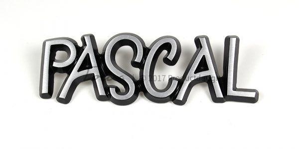 Types de caractères Pascal en aluminium