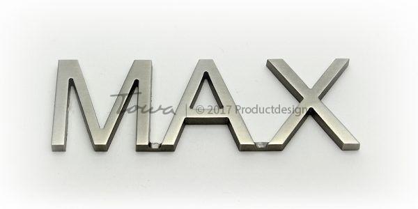 Types de caractères en acier inoxydable Max