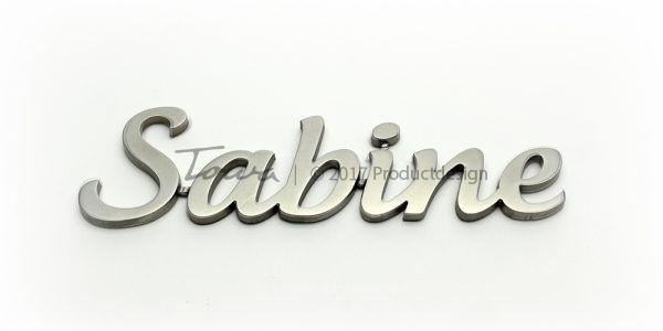 Types de caractères en acier inoxydable Sabine