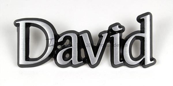 Types de caractères David en aluminium