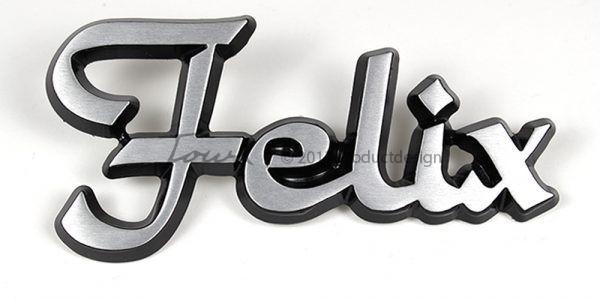 Types de caractères Felix en aluminium