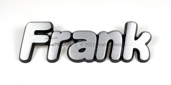 Types de caractères Frank en aluminium