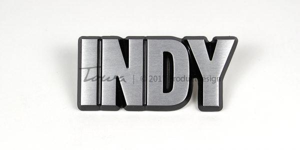 Types de caractères Indy en aluminium