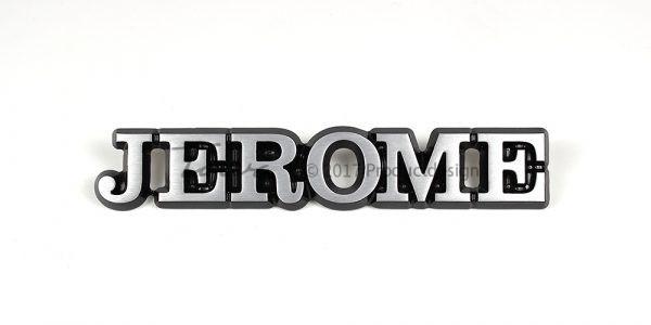 Types de caractères Jerome en aluminium