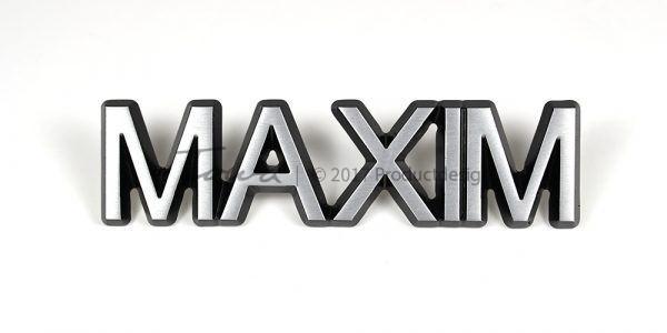 Types de caractères Maxim en aluminium