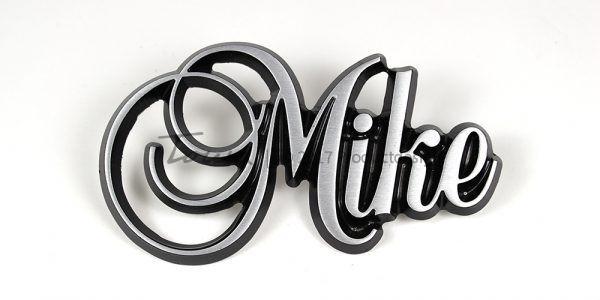 Types de caractères Mike en aluminium
