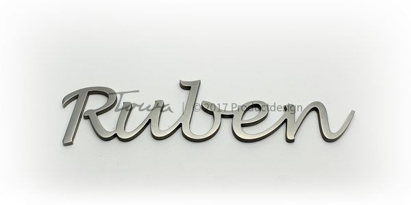 Types de caractères en acier inoxydable Ruben