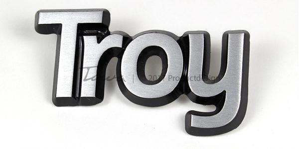 Types de caractères Troy en aluminium